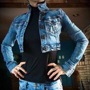Guess Crop Stretch Jean Jacket